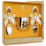 Детский набор посуды Медведь с эмалью (поильник, ложка, вилка)