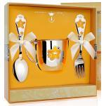Детский набор посуды Звезда с эмалью (кружка, ложка, вилка)