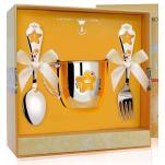 Набор детской посуды Звезда с эмалью (кружка, ложка, вилка)