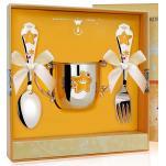 Детский набор посуды Звезда с эмалью (поильник, ложка, вилка)
