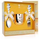 Детский комплект посуды Мишка с кружкой, ложкой, вилкой