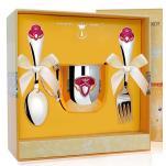 Набор детской посуды Принцесса с эмалью (кружка, ложка, вилка)