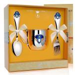 Набор детской посуды Принц с эмалью (кружка, ложка, вилка)