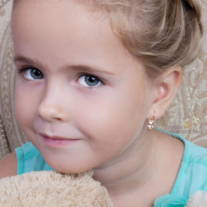 Выбираем первые серьги для детей - какие серёжки лучше для. Ювелирум
