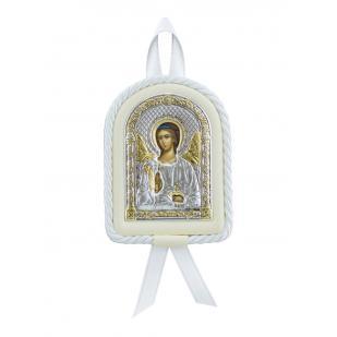 Икона детская Ангел Хранитель белая фото