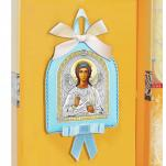 Икона детская Ангел Хранитель голубая