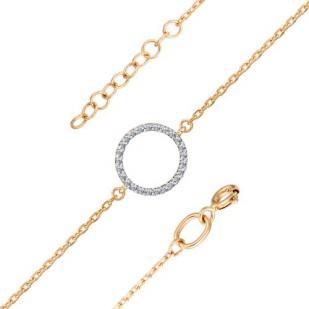Золотой браслет с кружком