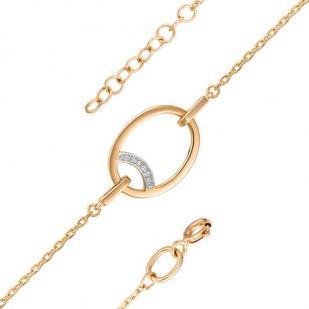 Золотой браслет геометрия 5147-100 фото