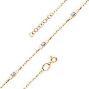 Красивый золотой браслет с бриллиантами