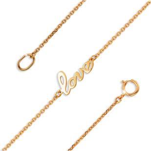 Золотой браслет Love