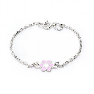 Детский серебряный браслет Цветочек