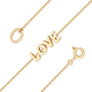 Золотой браслет с буквами LOVE фото