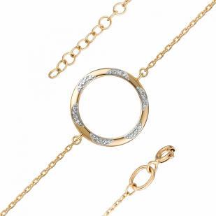 Золотой браслет с кругом