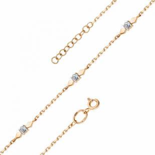 Красивый золотой браслет с бриллиантами 53191-100 фото