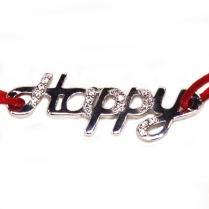 Браслет красная нить HAPPY