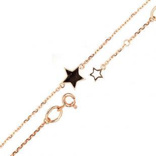 Золотой браслет со звездочкой фото