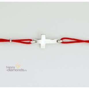 Браслет красная нить с крестиком фото