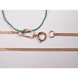 Золотая цепь Ромб двойной 1.5 мм