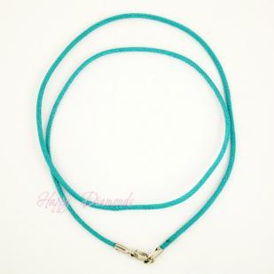 Хлопковый шнурок на серебряном замке (голубой)