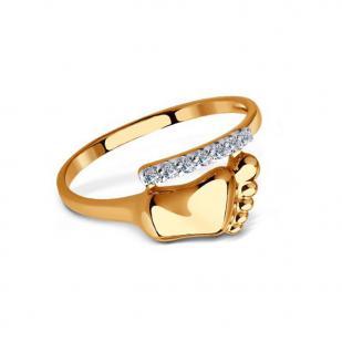 Золотое кольцо Пяточка малыша 016675 фото