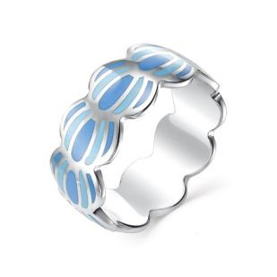 Кольцо с морскими ракушками серебро