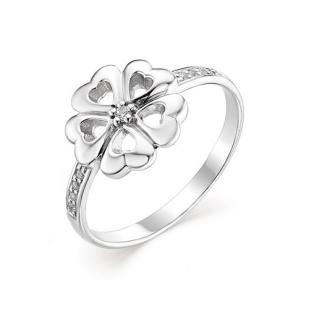 Кольцо серебряный цветок