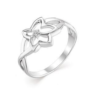 Серебряное кольцо Летящая звездочка фото
