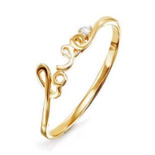 Золотое колечко LOVE
