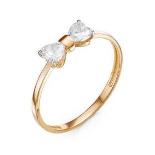 Золотое кольцо с бантиком
