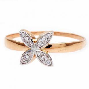 Золотое кольцо Цветочек фото