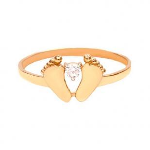 Золотое кольцо с ножками фото