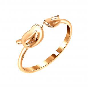 Золотое кольцо с птичками