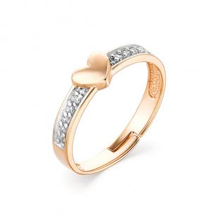 Детское золотое кольцо Сердечко фото