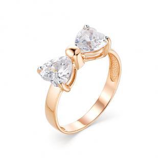 Детское золотое кольцо Бантик фото