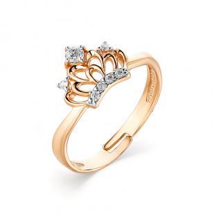 Детское золотое кольцо Корона фото