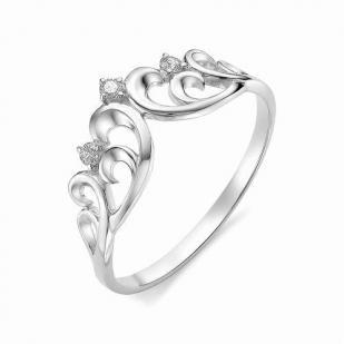 Кольцо из белого золота с бриллиантами Корона 12326-200