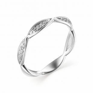 Красивое колечко из белого золота с бриллиантами 13219-200 фото