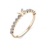 Золотое кольцо бриллиантовая бабочка