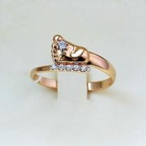 """Золотое кольцо """"Ножка младенца"""""""