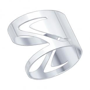 Кольцо серебряное Змейка фото