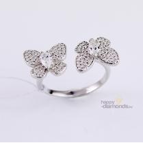 Кольцо Бабочки серебряное