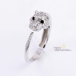 Кольцо Гепард серебро фото