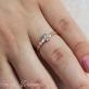 Золотое кольцо Спаси и Сохрани фианиты 13020