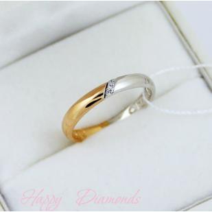 Золотое кольцо с фианитами и молитвой 63539