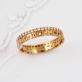 Золотое кольцо Спаси и Сохрани с фианитовой дорожкой 61565А