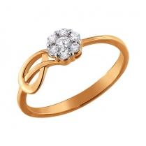 Золотое кольцо Цветочек завиточек