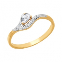 Золотое кольцо Капелька
