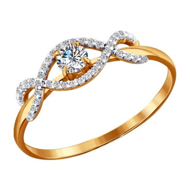 Женские золотые красивые кольца