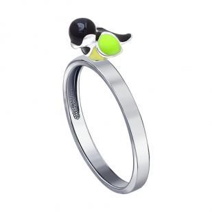 Серебряное кольцо Синица фото