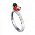 Серебряное кольцо Снегирь